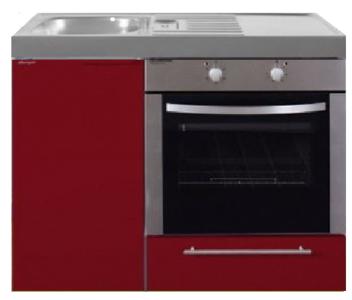 MKB 100 Bordeauxrood met  oven RAI-952
