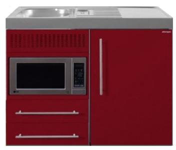 MPM 100 Bordeauxrood met koelkast en magnetron RAI-9513