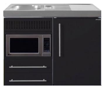 MPM 100 Zwart mat met koelkast en magnetron RAI-9516