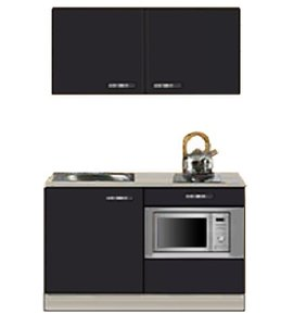 Kitchenette Faro Antraciet 120cm met onderbouw magnetron OPTI-0208