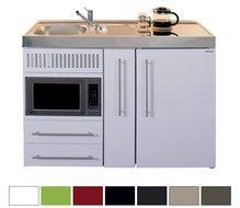 9- 120 cm met apothekerskast, koelkast en magnetron
