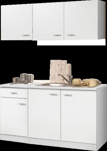 Keukenblok 150cm Wit Klassik Met Rvs Spoelbak Rai 0099 Kitchenetteonline