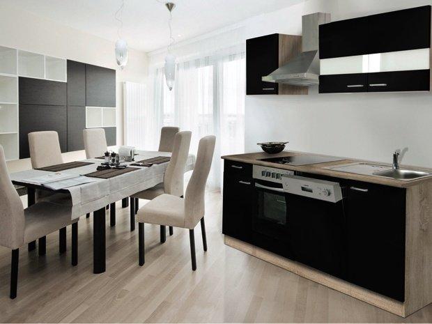Keuken Zwart 220cm Hus 1098 Kitchenetteonline