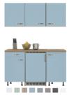 Keukenblok-150-Karat-blauw-incl-koelkast-en-kookplaat-en-wandkasten-RAI-915
