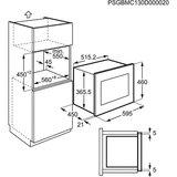 Keukenblok 170 Antraciet incl rvs spoelbak en koelkast en magnetron RAI-51_