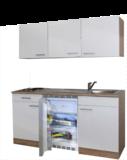 keukenblok 150 met koelkast en 2-pit kookplaat RAI-8484_