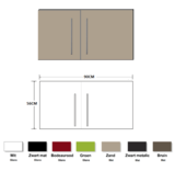 Metalen wandkast zand 90cm RAI-837_