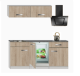 kitchenette 180cm incl koelkast en kookplaat RAI-876_