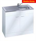 Keukenblok Klassiek 50 + RVS aanrecht 100cm x 50cm RAI-005_