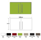Metalen wandkast groen 100cm RAI-835_