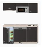 Keukenblok 150 cm incl kookplaat, afzuigkap vaatwasser en koelkast RAI-049_