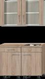 kitchenette 100cm met stelpoten en glazen wandkast RAI-400_