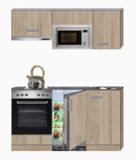 keukenblok 160 met inbouw magnetron, kookplaat en inbouw oven RAI-344_