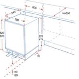 Kitchenette 150cm met stelpoten incl inbouw koelkast RAI-0039_