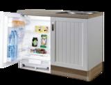 Design Keukenblok 110cm MDF met inbouw koelkast RAI-8192_