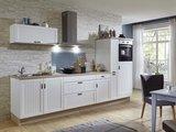 Design Keukenblok 210cm MDF met oven en inbouw koelkast RAI-8185_