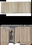 kitchenette 130 houtnerf incl koelkast en e-kookplaat RAI-3321_