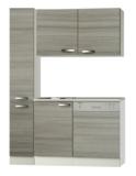 Keukenblok 130 met apotekerskast, vaatwasser en spoelbak RAI-811_