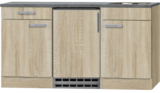 Kitchenette Neapels 150cm met koelkast en e-kookplaat HRG-08_