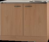 Keukenblok Klassiek 50 Beuken met RVS aanrecht 100cm x 50cm OPTI-68_