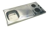 Pantry keuken 100 c 60cm met koelkast beuken RAI-858_