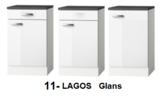 Kitchenette 190cm wit glans incl koelkast en afzuigkap HRG-508_