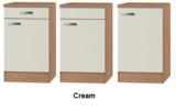 Keukenblok Klassiek 60 Cream met RVS aanrecht 100 x 60cm RAI-82_