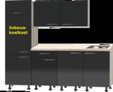 Rechte keuken Antraciet hoogglans met stelpoten 210cm RAI-391_