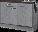 keukenblok 120cm Betonlook met wandksten en stelpoten RAI-054_