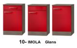 keukenblok Rood hoogglans 190 cm met inbouw koelkast en wandkasten RAI-998_