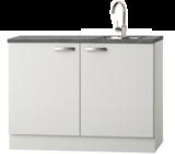 Kitchenette 120cm wit glans incl inbouw koelkast RAI-04114_