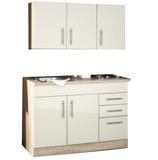 Mini keuken 120 cm x 60 cm incl. rvs spoelbak + electrische kookplaat + bovenkasten_
