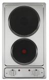 Keukenblok 120 wit met Elektrische kookplaat en rvs spoelbak RAI-3591_