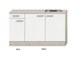 Keukenblok 130cm Genf gebroken wit mat RAI-20110_