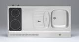 RVS aanrechtblad opleg 120cm x 60cm met 2-pit Keramische kookplaat RAI-2556_