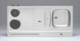 RVS aanrechtblad opleg 120cm x 60cm met 2-pit Elektrische kookplaat RAI-2553_