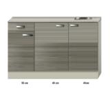 Keukenblok 130cm vigo grijz-rood RAI-43132_