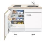 Keukenblok Lagos met inbouw koelkast en kookplaat 120cm RAI-441_