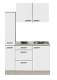 Kitchenette Genf 130cm met apothekerskast en e-kookplaat RAI-44301_