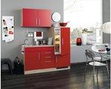 Kitchenette incl e-Kookplaat + koelkast met vriezer + Apothekerskast  210 cm lang RAI-849_
