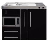MPM 120 A Zwart metalic met koelkast, apothekerskast en magnetron RAI-9547_