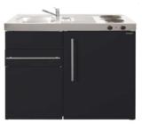 MK 90 Zwart mat met koelkast en een la RAI-9516_