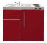 MK 90 Bordeauxrood met koelkast en een la RAI-9513_