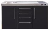 MPS4 150 Zwart mat met koelkast en 4 ladekasten RAI-9537_