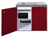 MKM 100 Bordeauxrood met koelkast en losse magnetron RAI-9573_