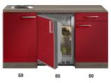 Kitchenette Rood Hoogglans 150cm HRG-5396_