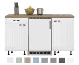 Keukenblok 150 Karat Klassiek incl koelkast en kookplaat en wandkasten RAI-916_