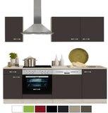 keukenblok 210 cm Faro, antraciet incl e-apparaten mat RAI-127_
