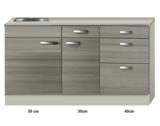 Keukenblok 120cm vigo grijz-rood RAI-4392_