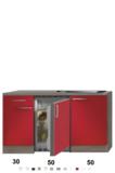 Kitchenette Imola Rood Glans 130cm HRG-88_